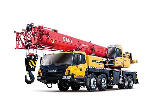 三一55吨吊车46米臂长-【成都吊车出租】
