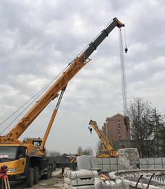 100吨吊车石材吊装-【成都吊车出租】